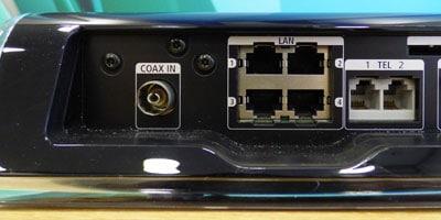 Anschlüsse Internet und Telefon an der Unitymedia Horizon Box