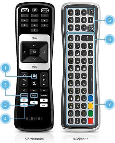 Fernbedienung des Kabel BW / Unitymedia Horizon HD-Recorders